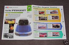 PEUGEOT CARS HISTORY 1948-1998 PHOTO BROCHURE 104 203 305 403 404 504 604 905+