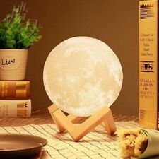 20CM LED Night Light 3D Printing Moon Lamp Dimmable Touch Control Gift Birthday