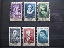 FRANCE neufs n° 1027 à 1032  CELEBRITES (1955)