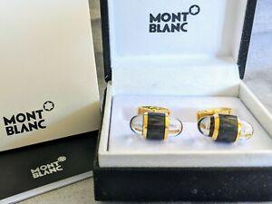 New Condition MONTBLANC UrbanWalker Gold&Black Colour Stainless Steel Cufflinks