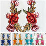 Floral Rose Flower Iron Sew On Embroidered Patch Applique Craft Sewing Decor