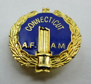 Lapel Pin Grand Lodge of Ancient Free and Accepted Masons of Connecticut AF AM