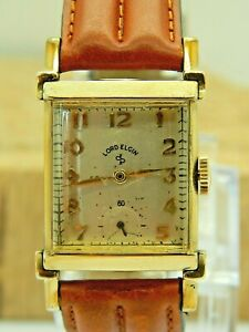 Serviced 1947 Lord Elgin 10K RGP Art deco gr 559 21 jewel watch only 7000 made!