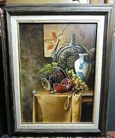 Fantastic Mark Marcuson Still Life Original Oil Painting Listed Artist WOW!