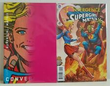 Convergence Supergirl Matrix #1-2 DC 2015 VF variant cover