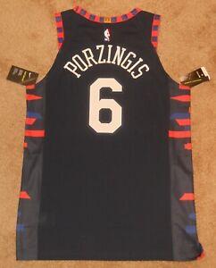 Kristaps Porzingis New York Knicks City Authentic Jersey sz 48 Nike New w/ tag