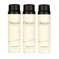 Pack of 3 Calvin Klein Obsession All Over Body Spray for Men 5.4oz 152g each