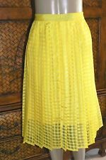 NEW $54 WOMENS ELLE PRIMROSE YELLOW CHECK PATTERN SKIRTS