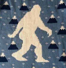 Middle Of Beyond Yeti Abominable Snowman Sweater 3X Ugly Christmas Pullover Blue