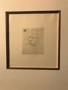Father of Modernism Manet, Edouard 'Baudelaire de profile en chapeau II' etching