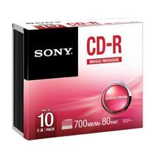 CD-R Audio Sony 80min 10CRM80SS Caja Slim pack 10 uds