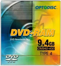 25-Pak 9.4GB Optodisc 2X DVD-RAM in Type-4 Cartridge with Hard Coat Surface!