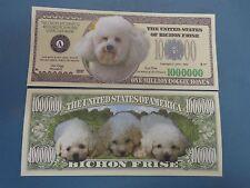 The United States of BICHON FRISE Dogs $1,000,000 One Million Dollard ~ Dog Woof
