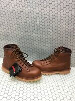 Wolverine Brown Leather Waterproof Lace Up Work Boots Men's Size 11 EW