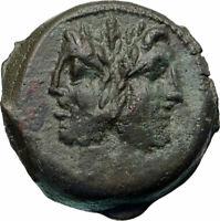 Roman Republic Authentic Ancient Rome 91BC Roman Coin JANUS GALLEY SHIP i85859