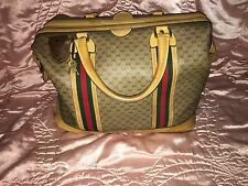 Auth LARGE Leather Gucci Doctors Briefcase Luggage Bag Train Case Vintage
