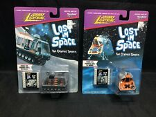 Johnny Lightning Lost In Space Lot - Space Pod W Clip 16 & Chariot W Clip 20