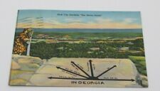 Vintage Postcard Rock City Gardens See Seven States In Georgia Lookout Mountain