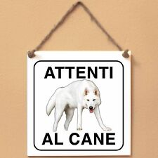 Northern Inuit 4 Attenti al cane Targa cane cartello ceramic tiles