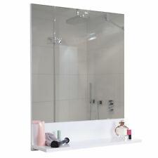 Wandspiegel mit Ablage MCW-B19, Badezimmer, hochglanz 75x80cm weiß