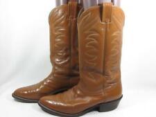 Nocona Western Cowboy Boot Men size 9.5 D Tan Leather