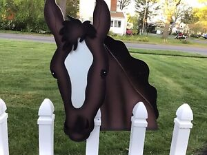 Wooden Horse Gate Fence Topper Or Wall Plaque New