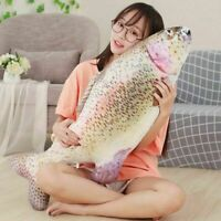 Fish Trout Plush Toy Pillow Cushion Stuffed Animal Doll Home Decor Party Gift