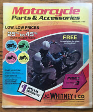 JC Whitney Motorcycle Parts & Accessories Catalog No. 7 1974 40 Pages