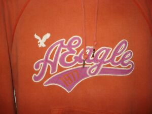 WOMENS AMERICAN EAGLE OUTFITTERS ORANGE HOODIE SZ L