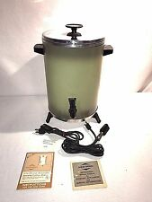 Vintage West Bend 30 Cup Insulated Automatic Coffee Maker #33525 With Box & Info