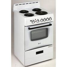 "Avanti Er24P0Wg, White Electric Range Oven, 24"", 2.6CuFt Oven"