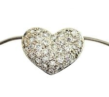 "Diamond 1.05ct puffed heart pending 14kw Gold 16"" Long"
