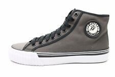 "PF FLYERS ""CENTER HI"" gray canvas high top fashion sneakers sz. M-7, W-8.5 $110"