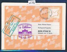 66796) LH SF Berlin-Zurich Suisse 6.4.2001, Br. Portail, gau Brésil