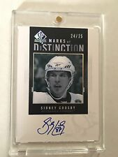 2010-11 SP Authentic Marks of Distinction #MDSC Sidney Crosby AUTO /25 Penguins