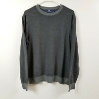 Vineyard Vines Mens Wool Blend Sweater Medium M Gray Pullover Adult Crewneck