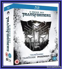 TRANSFORMERS - COMPLETE 1 2 3 MOVIES TRILOGY BLURAY BOXSET *BRAND NEW*