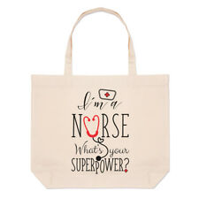 I'm a infirmière What's Your Superpower Grand Plage SAC FOURRE-TOUT - DRÔLE