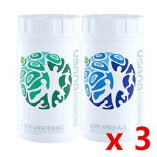 USANA Cellsentials Core Minerals and Vita-Antioxidant Replace Essentials ANZ X3