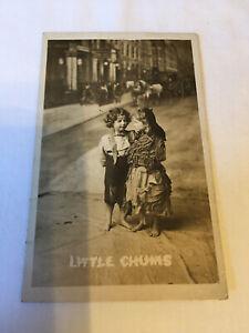 BAMFORTH Novelty POST CARD 'Little Chums, Children in Rags' 1904