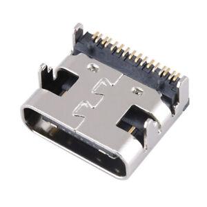 10Pcs USB 3.1 Type C Female 16Pin PCB SMT Charging Port Socket Solder Connector