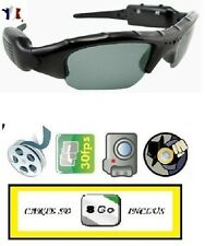 LUNETTES SPORT-MINI DV-CAMERA ESPION (VIDEO, AUDIO, PHOTO)+  MICRO SD 8 GO