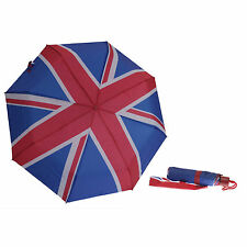 Unisex Mens & Womens New Union Jack Design Compact Umbrella Manual Open