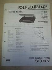 Sony Service Manual~PS-LX46/LX46P/LX47P Turntable~Original~Repair