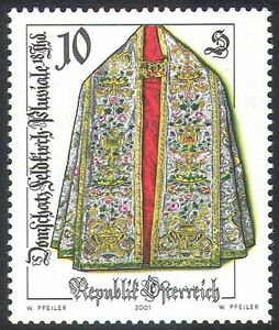 Austria 2001 Arts/Crafts/Clothes/Costume/Coats/Embroidery/Sewing 1v (n41224)