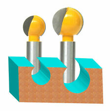 "2PC 1/2"" SH 3/4"" and 1"" Diameter Plunging Ball End Router Bit   sct-888"