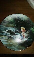 """Little Fisherman"" by Donald Zolan World of Zolan Hamilton Col. 1992 Mib Coa"
