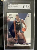2019-20 Panini Mosaic Zion Williamson #209 ROOKIE RC MINT SGC 9.5 NO Pelicans