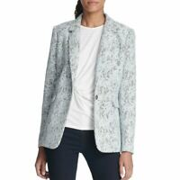DKNY NEW Women's Bonded Lace One-button Jacket Top TEDO