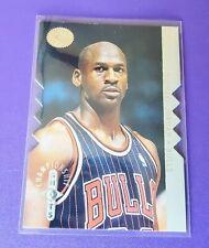 1995-96 MICHAEL JORDAN SP CHAMPIONSHIP SHOTS INSERT Silver DIE CUT CARD #S16